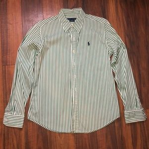 Ralph Lauren Striped Button Down Shirt Sz. 10